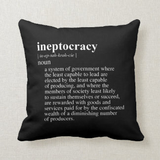 Ineptocracy Definition.png Throw Pillows