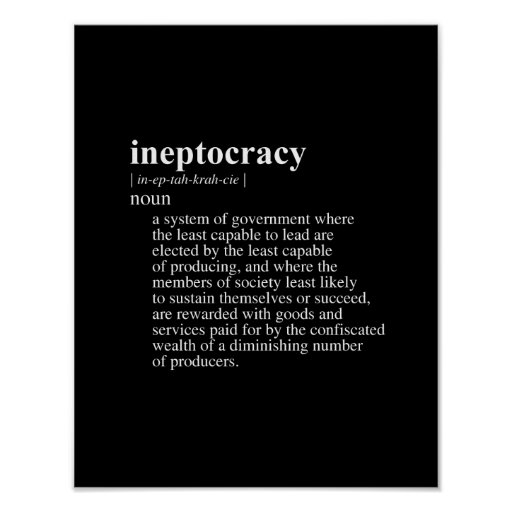 Ineptocracy Definition.png Poster