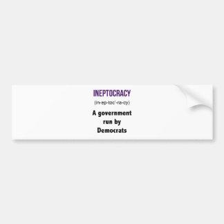 Ineptocracy Democrats Bumper Sticker