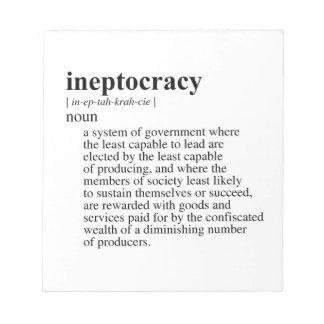 INEPTOCRACY MEMO PAD