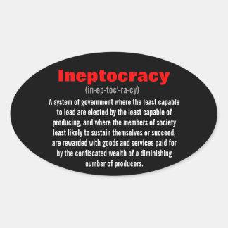 Ineptocracy Pegatina Ovalada