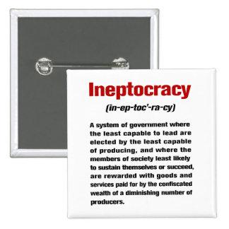 Ineptocracy Pin Cuadrado
