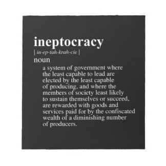 INEPTOCRACY png Notepads