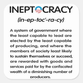 Ineptocracy Square Sticker