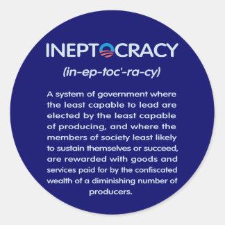 Ineptocracy Sticker