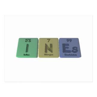 Ines as Iodine Neon Einsteinium Postcard