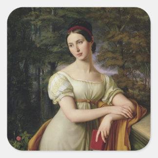 Inés Rauch, 1825 Pegatina Cuadradas Personalizada
