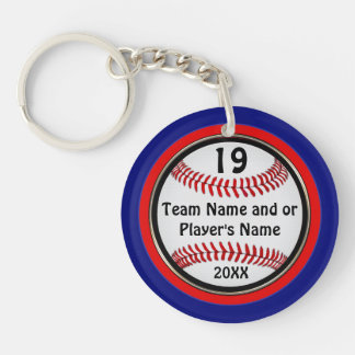 Inexpensive Baseball Team Gifts PERSONALIZED Keychain