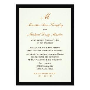 Inexpensive Budget Post Wedding Reception Invitation