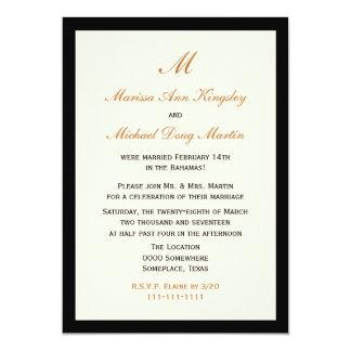 Inexpensive Budget Post Wedding Reception 5x7 Paper Invitation Card