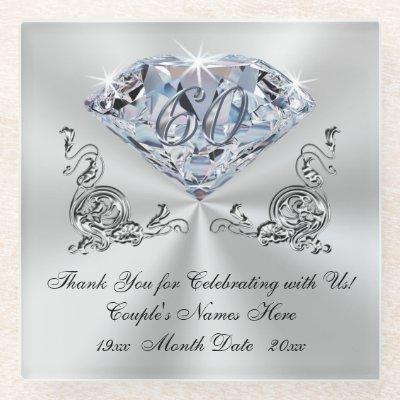 Diamond Wedding Anniversary Presents Coasters