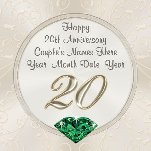 20th anniversary gifts on zazzle