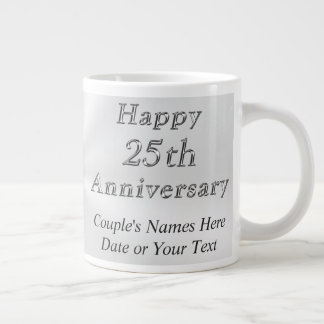 Inexpensive Personalized 25th Anniversary Gifts, Giant Coffee Mug