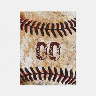 Inexpensive Personalized Baseball Fleece Blankets