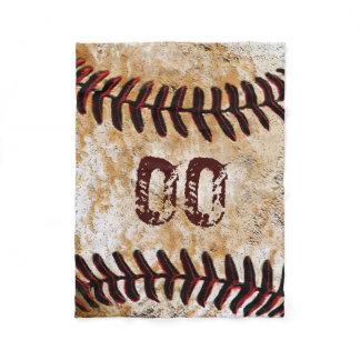 Inexpensive Personalized Baseball Fleece Blankets