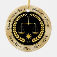 Inexpensive Personalized Lawyer Ornaments, Ceramic Ceramic Ornament