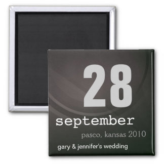 Inexpensive Save the Date Wedding Magnet