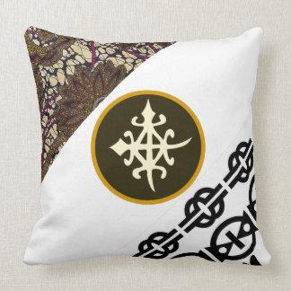 Inexpensive Throw Pillows-African Fabrics, Symbols