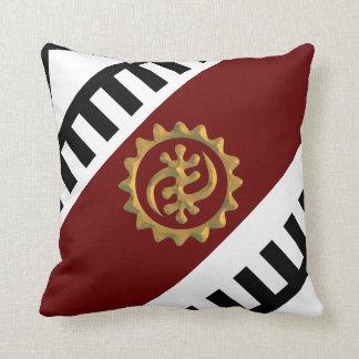Inexpensive Throw Pillows With  Adinkra Symbols