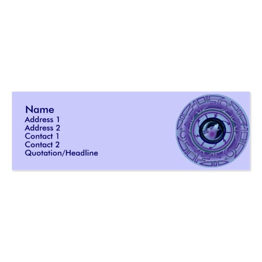 Inez Night Profile Cards Double-Sided Mini Business Cards (Pack Of 20)