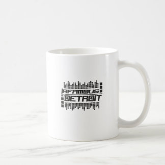 Infame en Detroit Techno Taza De Café
