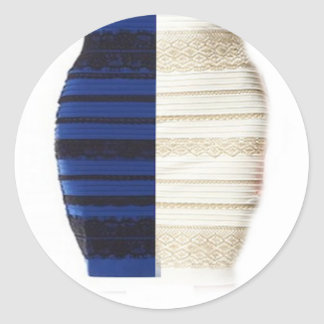 Infamous Black & Blue Dress White gold Items Classic Round Sticker