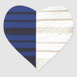 Infamous Black & Blue Dress White gold Items Heart Sticker