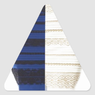 Infamous Black & Blue Dress White gold Items Triangle Sticker