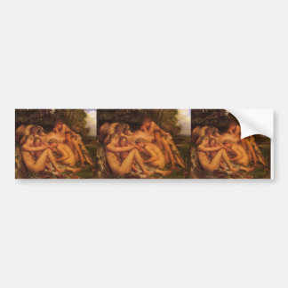 Infancy of Zeus by George Frederick Watts Bumper Stickers