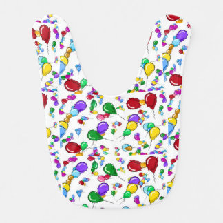 INFANT BABY BALLOONS BIB COLORFUL!