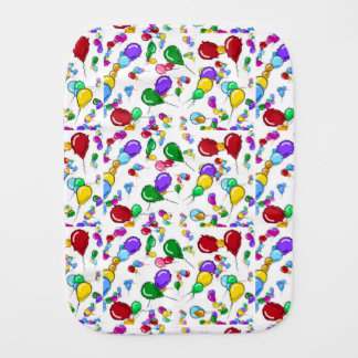 INFANT BABY BALLOONS BURP CLOTH COLORFUL!