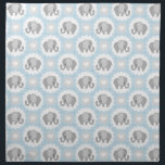 """Infant Baby Boy Blue Elephant Shower Gift Cloth Napkin<br><div class=""""desc"""">This is a beautiful custom gift that's perfect for any baby,  toddler,  youth,  mom to be,  new mom,  baby shower.</div>"""