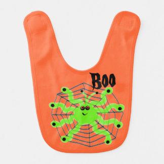 Infant Bib Halloween Spider Boo