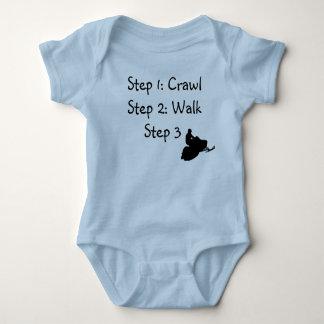 """Infant Boy (blue Crawl, Walk, Ride"""" Tshirts"""