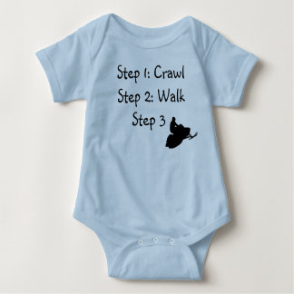 "Infant Boy (blue Crawl, Walk, Ride"" Tshirts"
