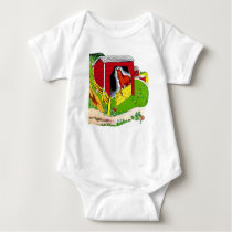 INFANT CREEPER, BARN WITH HORSE BABY BODYSUIT