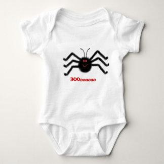 Infant Creeper Black Spider BOOooooo Halloween