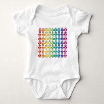 Infant Creeper - Cute Rainbow Owl Pattern