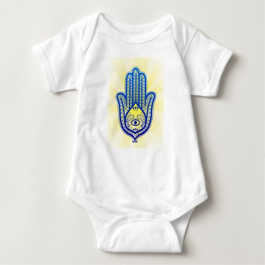 infant creeper, hand of Fatima Baby Bodysuit