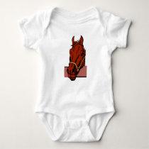 INFANT CREEPER HORSE HEAD