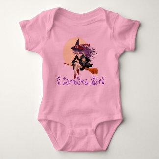 Infant Creeper, Pink, S CAROLINA GIRL, HALLOWEEN Baby Bodysuit