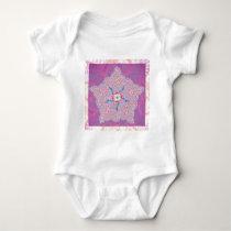 Infant Creeper - Purple Star Fractal Pattern