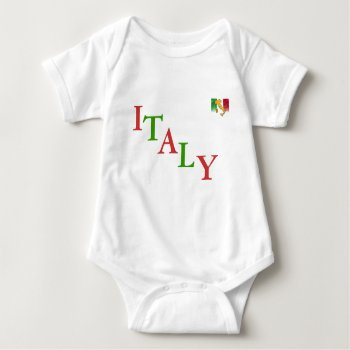 """Infant  Creeper   Red White & Green    """"italy"""" by creativeconceptss at Zazzle"""