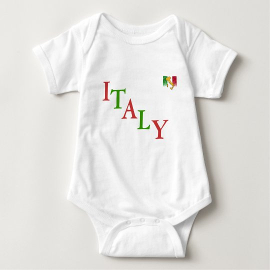 "INFANT  CREEPER   RED WHITE & GREEN    ""ITALY"""
