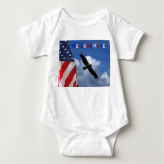 Infant creeper Welcome Home military family