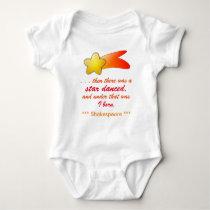 Infant Creeper, White Baby Bodysuit