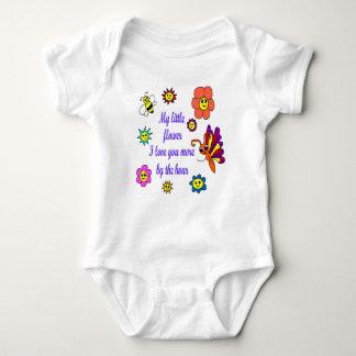 Infant Creeper White.  My little Flower Design
