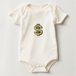 Infant Creeper with Big Yellow Dollar Sign