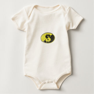 Infant Creeper with Dollar Sign of Freedom Print