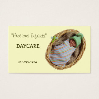 Infant Day Care: Clay Baby in Basket Business Card